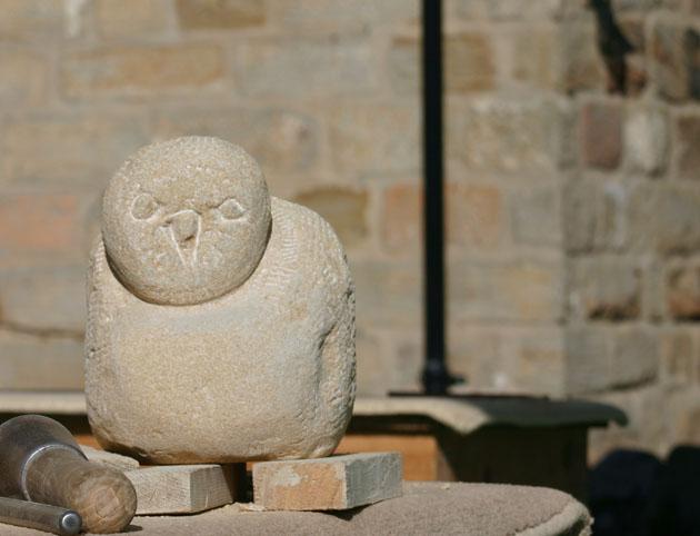 bird carved in sandstone