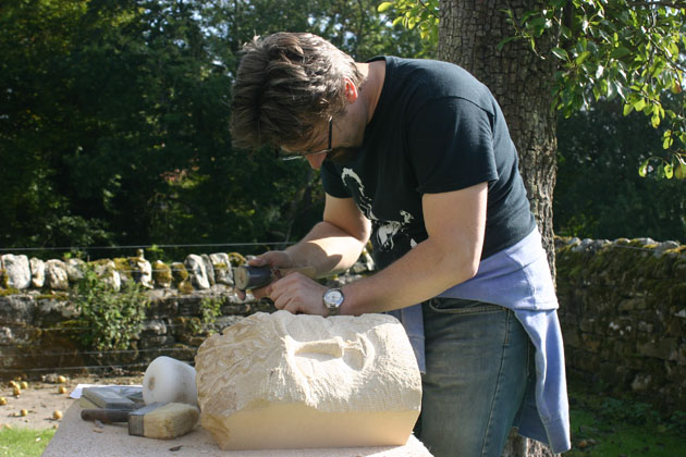 carving the green man