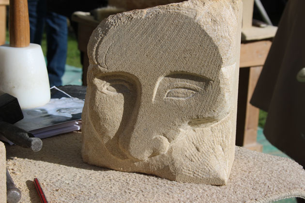 face carving in stone