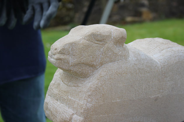 sheep carving