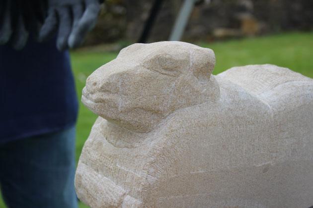 sheep carving