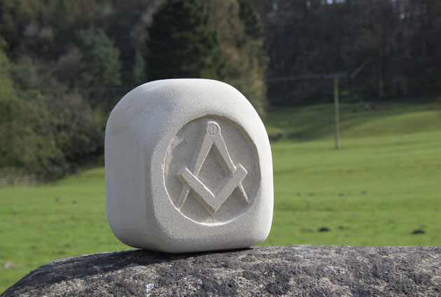 square and compass carving
