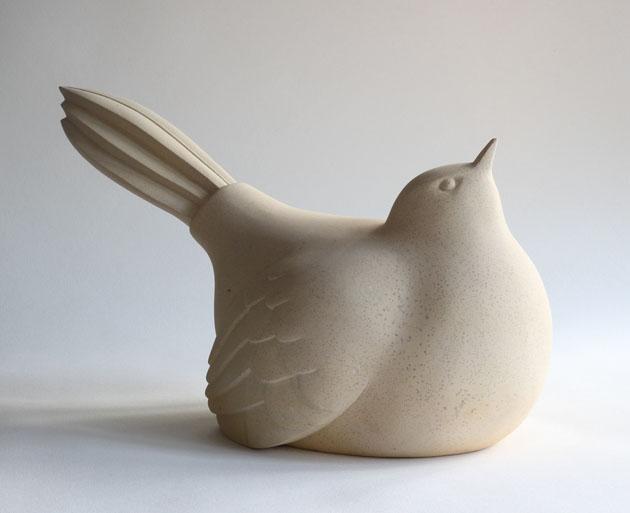 Long tailed Bird sculpture
