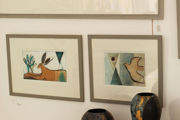 Henrietta Corbett prints being shown by Staithes Studios at Art& Show York 2017