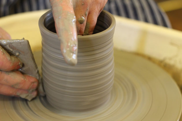 Pot throwing demonstration at Crafted by Hand Masham