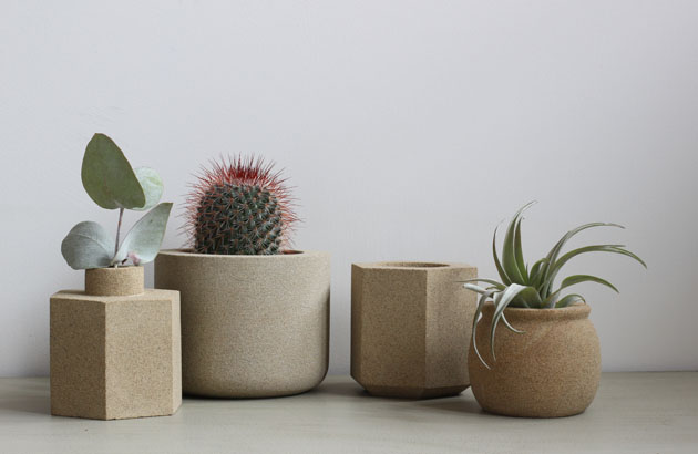 Stone pots at Crafted by Hand Masham