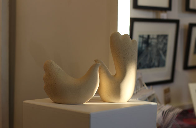 Two birds sculpture at Crafted by Hand Masham