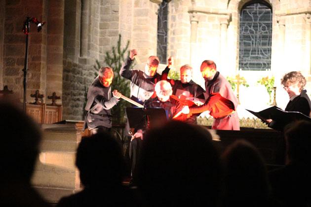 Thomas Becket being murdered