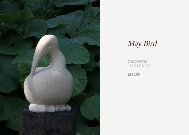 May Bird sculpture