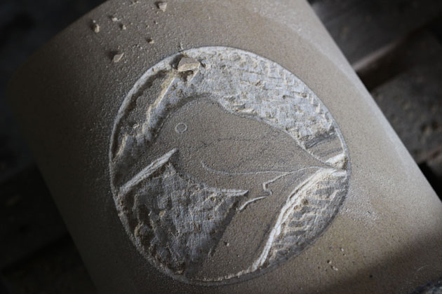 Carving a Kingfisher