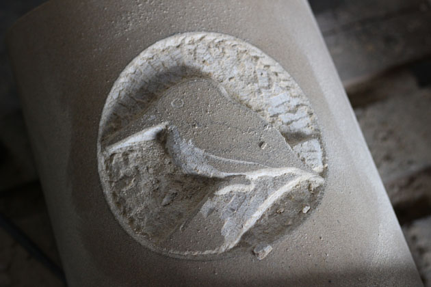 Progress of carving a Kingfisher
