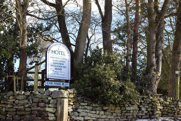 The sign marking the entrance of Lastingham Grange, Lastingham