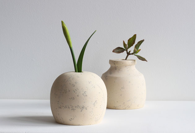 vases for spring stems