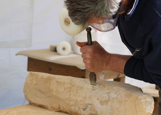 How to make a start on a stone carving - Spring 2018 stone carving course in Lastingham