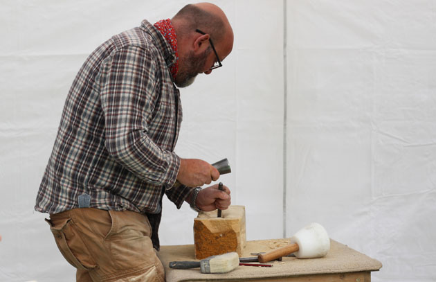 Spring 2018 stone carving course, Lastingham, North Yorkshire