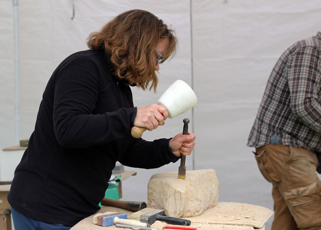 Spring 2018 stone carving course in Lastingham, North Yorkshire
