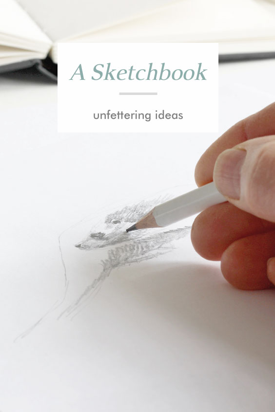 A Sketchbook of preparatory drawings for sculpture