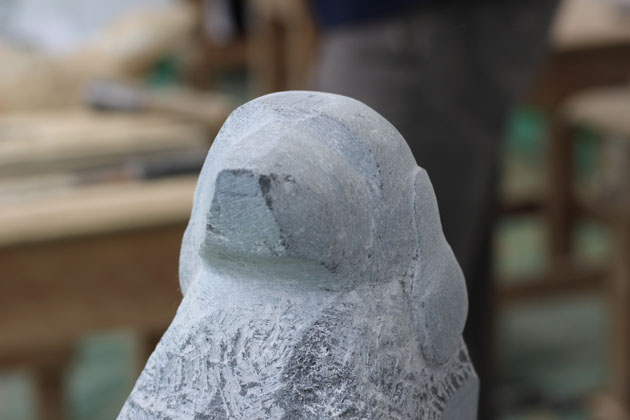 Learning stone carving - a dog in progress