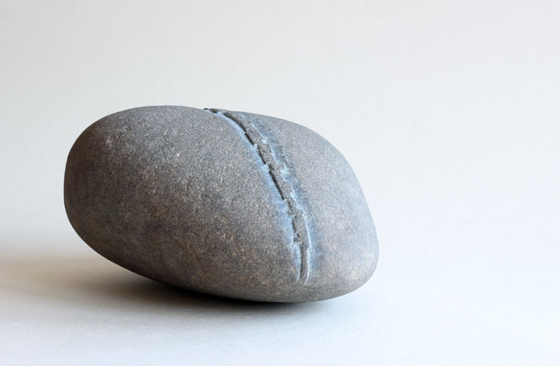 Sonogram stone - showing a curlew call