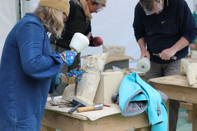 Stone Carving Course April 2018 in Lastingham