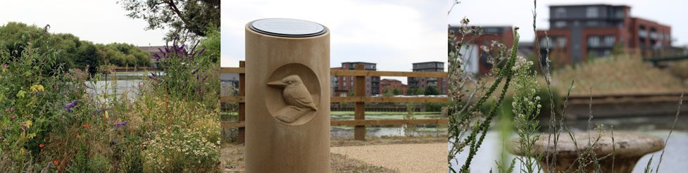 Memorial walk along the River Aire in Leeds