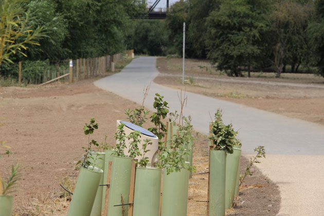 Memorial walk along the River Aire