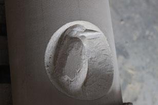 heron carving progress