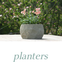 stone pots and planters