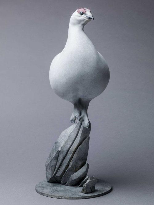 Ptarmigan sculpture by Nick Bibby