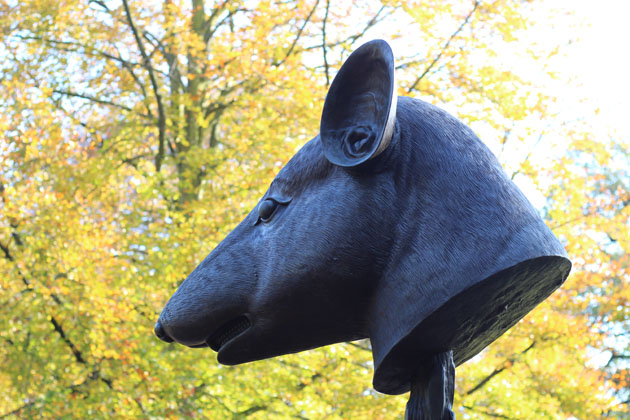 Animal head sculpture by Ai Weiwei