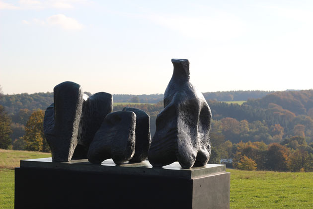 Three Piece Reclining Figure No 1 by Henry Moore