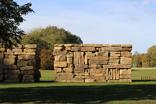 Wall Dale Cubed sculpture by Sean Scully