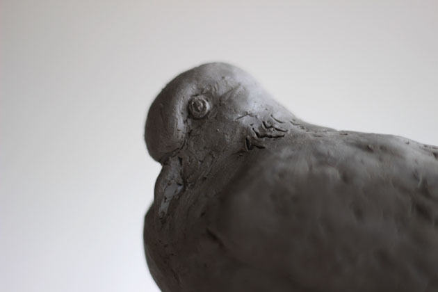 Clay maquette for my Turtle Dove sculpture