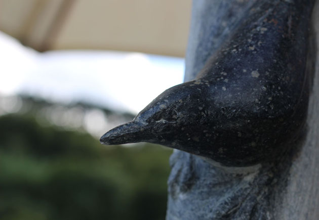 Detail of Nuthatch sculpture