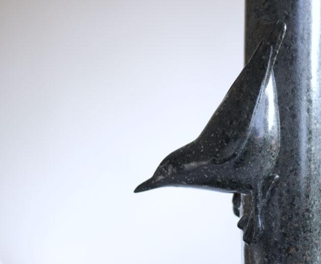 Nuthatch sculpture
