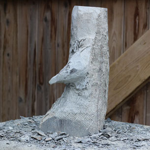 Nuthatch sculpture in progress