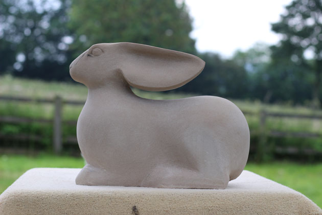 Hare sculpture nearly completed