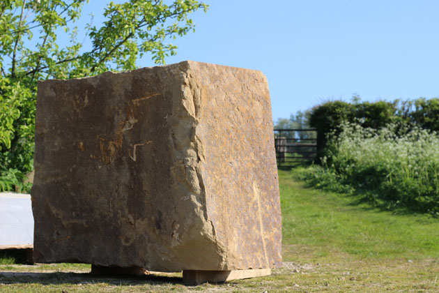 Stone block ready for carving
