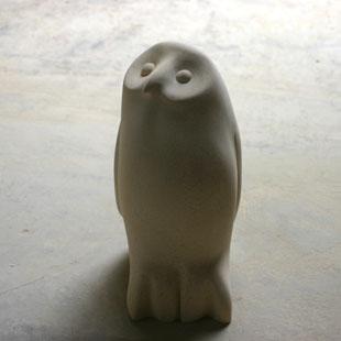 Chick owl sculpture