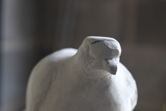 Turtle Dove carving progress