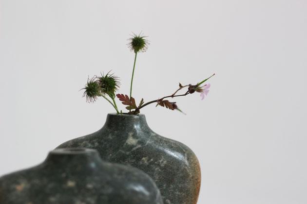 little posy in stem vase