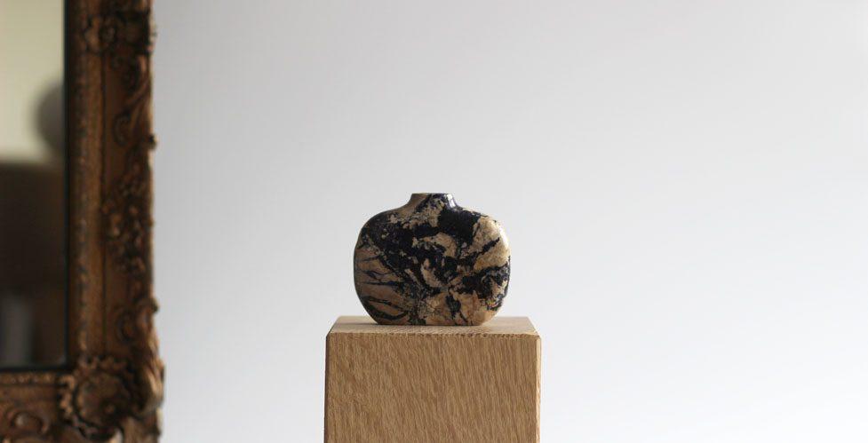 Vase - Ball Eye Blue Marble