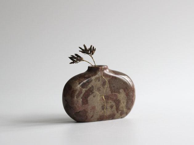 Repaired marble vase