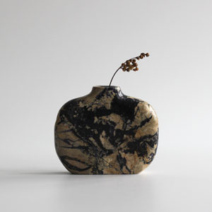 stem vase in marble