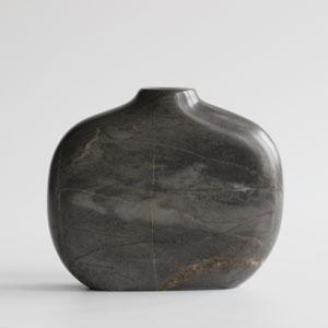 Small stem vase in Moorcroft Grey Marble