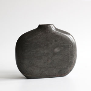Stem vase in Moorcroft Grey Marble