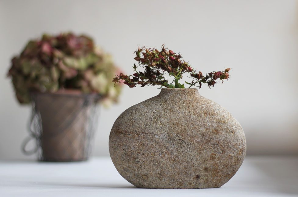 Exclusive selection of Vases in stone
