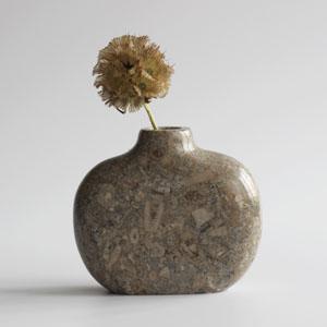 Swaledale Fossil marble vase