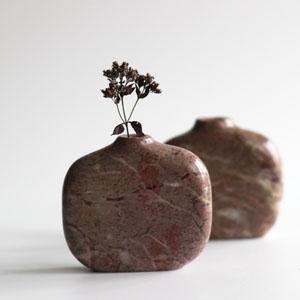 Simple stone stem vase
