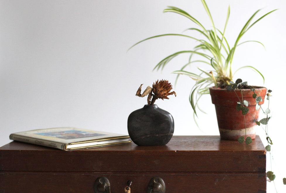 Vase in Moorcroft Grey marble